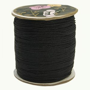 Macrame Cord - Black - Riverside Beads
