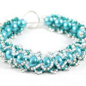 Caterpillar Bracelet Kit Teal Purple - Riverside Beads
