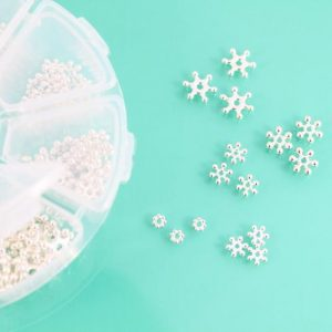 Silver Plated Sparkle Spacers - Riverside Beads