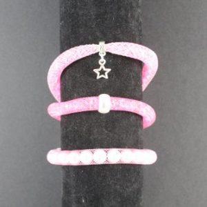 Mesh Bracelet Kit - Pink-riverside beads