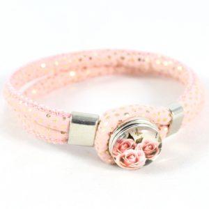 Cord and Popper Bracelet -riverside beads