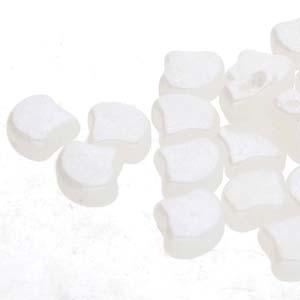 Ginko Beads White Opal Luster - 7.5mm - 10g - Riverside Beads