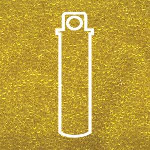 Size 15/0 Miyuki Seed Beads - Transparent Yellow - Riverside Beads
