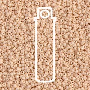 Size 15/0 Miyuki Seed Beads - Matte Dark Cream - Riverside Beads