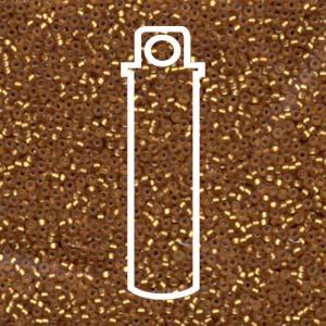 Size 15/0 Miyuki Seed Beads - Matte Silver Lining Topaz - Riverside Beads