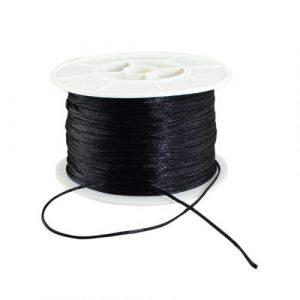 Satin Cord - Black - Riverside Beads