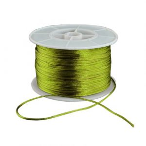 Satin Cord By The Roll - Olive Green - Riverside Beads