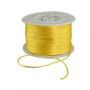 Satin Cord - Yellow - Riverside Beads