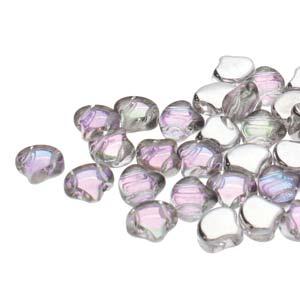 Ginko Beads Backlit Pink Mist - 7.5mm - 10g - Riverside Beads