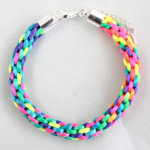 2mm Braided Rainbow Kumihimo-riverside beads