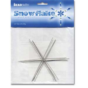 3.34 Wire Snowflake Frames - Riverside Beads