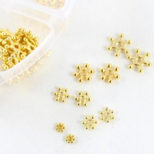 Gold Sparkle Spacer Beads - Riverside Beads