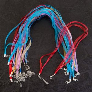 Ribbon Cord Necklaces Brights - Riverside Beads