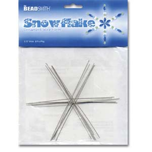 """4.5"""" Wire Snowflake Frames"""