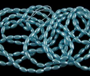 Blue Acrylic Rice Pearl - Riverside Beads
