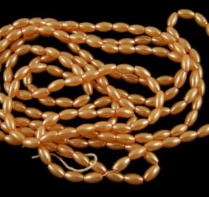 Orange Acrylic Rice Pearl - Riverside Beads