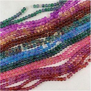 6mm Mottled Glass Beads - Riverside Beads