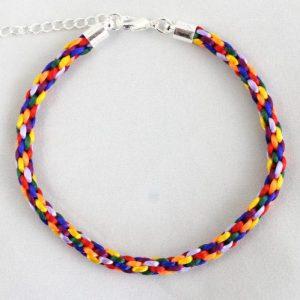 Braided Rainbow Kumihimo Bracelet-riverside beads