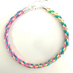 Rainbow Kumihimo Bracelet Kit-riverside beads