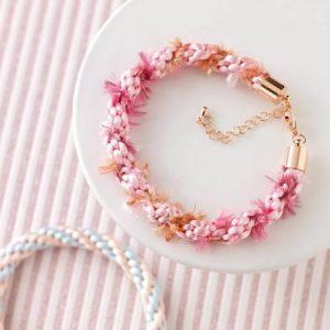 Candyfloss Swirl 8 braid bracelet kit-riverside beads