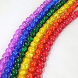 8mm Rainbow Crackled Beads - Riverside Beads