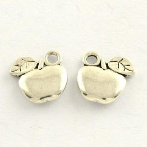Apple Charms - Silver Plated - Riverside Beads