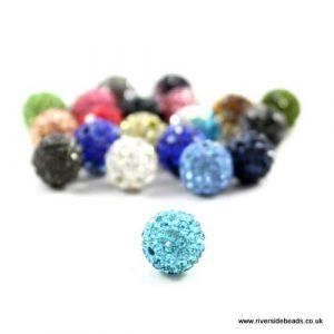 Aqua Crystal Clay Beads - Riverside Beads
