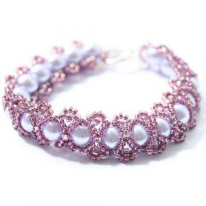 Purple Caterpillar Bracelet Kit-riverside beads