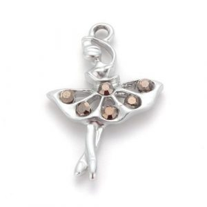 Silver Plated Ballerina Charm - Riverside Beads