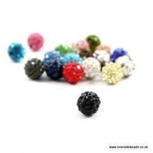 Black Crystal Clay Bead - Riverside Beads