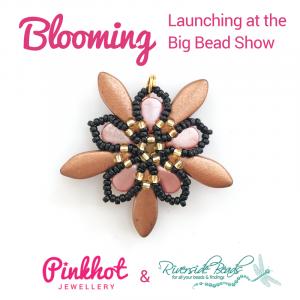 Pink/Gold Blooming Flower Kit - riverside beads