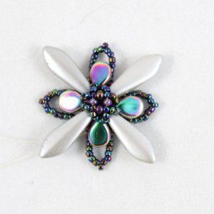 Purple/Silver Blooming Flower Kit- riverside beads