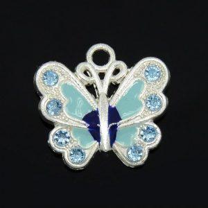 Blue Enamel Butterfly Charms - Riverside Beads