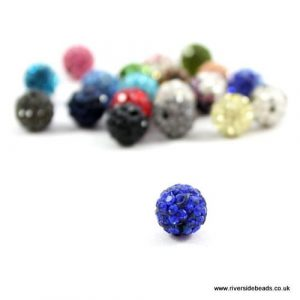 Blue Crystal Clay Beads - Riverside Beads