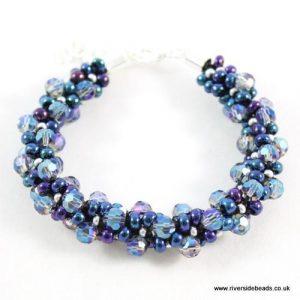 Blue Lagoon Crystal Kumihimo-riverside beads