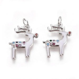 Reindeer Charms - White - Charms - Riverside Beads