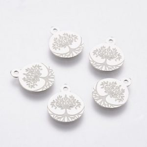 Tree Of Life 1 Charms - Silver - Riverside Beads