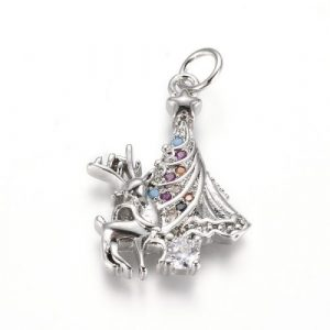 Reindeer Christmas Tree Charms - Silver - Riverside Beads
