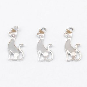 Cat Charms - Silver Plated - Riverside Beads