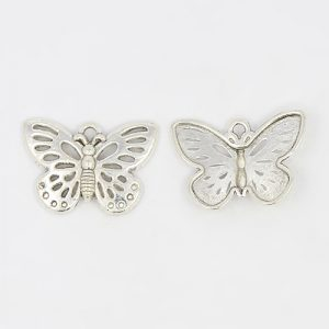 Silver Butterfly Charms - Riverside Beads