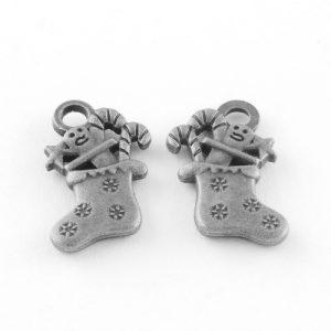 Christmas Stocking Charms - Silver - Charms - Riverside Beads