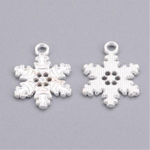 Snowflake Charms - Silver - Charms - Riverside Beads