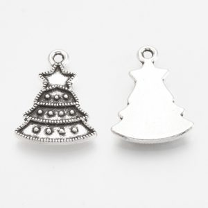 Christmas Tree Charms - Silver - Charms - Riverside Beads