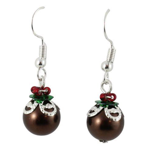 Christmas Pudding Earrings Kit - Riverside Beads