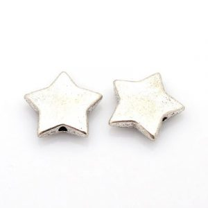 Silver plated Christmas star - Riverside Beads