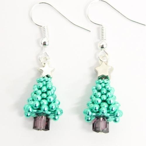 Sparkle Spacer Tree Earrings-riverside beads