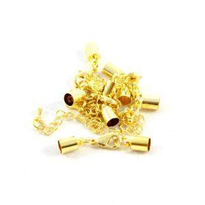 6mm Gold Kumihimo Bell Closer - Riverside Beads
