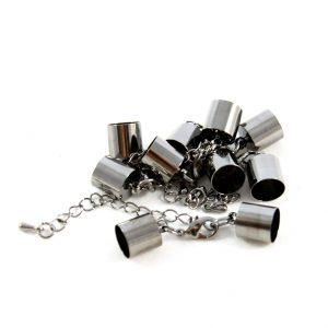 6mm Black Kumihimo Bell Closer - Riverside Beads