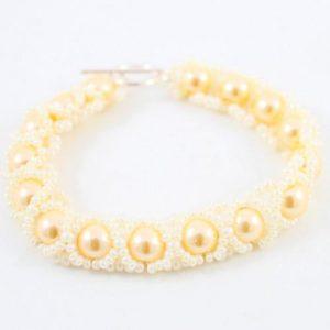 Caterpillar Bracelet Kit Lemon - riverside beads