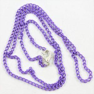 "24"" Purple Curb Chain - Riverside Beads"